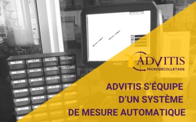 Advitis s'équipe d'un système de mesure automatique