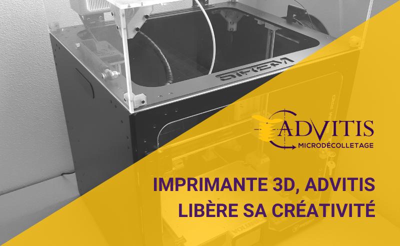 imprimante 3D décolletage